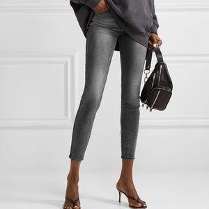 KSUBI Spray On Throwblack crop m-rise skinny jeans